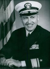 Photograph of U.S. Service chief Rear Admiral Leroy Swanson.