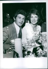 Kay and Frankie Avalon were among first nighters at Connie Stevens' opening at the Now Grove. The Avalons are expecting their sixth child, 1971.