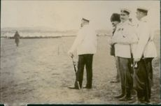 Admiral Alex with his staffs at the Port Arthur during the Tyskland war, 1904.