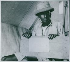 Red Cross Ambulance paramedic in Ethiopia, 1936.