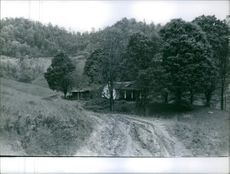 Vintage photo of Francis Gary Powers house.