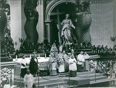 Pope Pius XII giving Papal mass, 1965.
