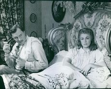 Still of Ivan Desny and Dany Robin in the 1955 film, Frou-Frou.