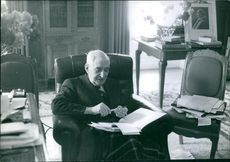 Raoul Salan in his office.