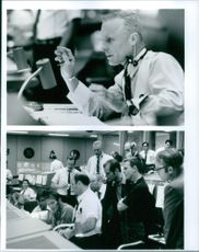"Ed Harris and other casts of the movie, ""Apollo 13""."