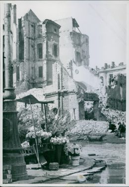 War Damages in Poland during the war.