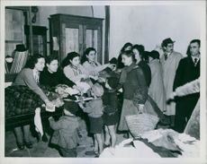 American Relief are being Distributed during 1945 in Anzio, Italy.