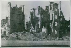 The Stare Miasto or the Old Town in Poland was destroyed during the bombing in Poland. 1945