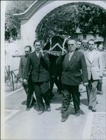 Pierre Poujade at funeral.