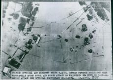 A aerial view of military tank during Netherlands in World War II.