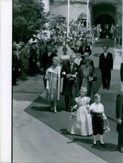 Portrait of a royal wedding entourage. 1961