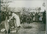 View of a funeral during Balkan War, 1913.