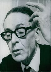 Vintage photograph of Henri Guillemin. 1969.