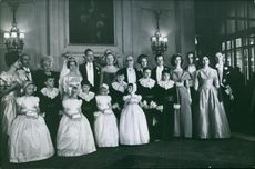 Xavier, Duke of Parma and Piacenza posing in group photograph.