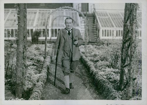 A fine snapshot of Mr. Baldwin, the Prime Minister, taken at his home at Astley Hall.