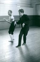 Theophanis Lamboukas dancing during his rehearsal. 1963
