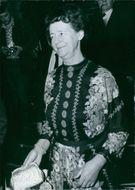 Audrey Callaghan smiling, wife of British Prime Minister James Callaghan.