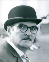 Close up of Welsh actor and film producer Stanley Baker.