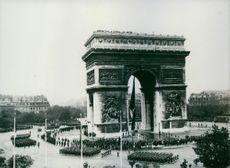 In Paris, The first anniversary of victory.