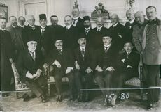The Turkish Parliament leaders in Berlin 1916, President of the Chamber and commisssion