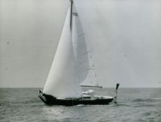 View of boat in the sea.