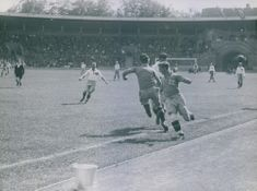 Qualifying match for FIFA 1934 between Sweden and Estonia in Stockholm Stadium, Sweden. June 1933.