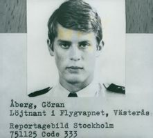 Pilot Göran Åberg in the Air Force was killed when a jet aircraft of type J35 Draken from F1.