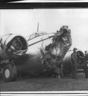 Aircraft destroyed by storm