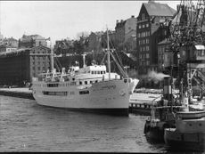 "Cruise ship ""Nordland"" at Stadsgården in Stockholm"