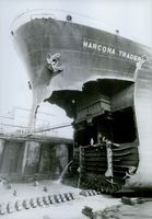 Miraculous escape of the ship, Marcona Trader, from sinking.