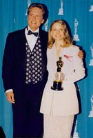 Michael Douglas and Jodie Foster at the Oscars. 1992.