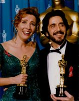Al Pacino and Emma Thompson wins the Best Actor and Best Actress Awards. 1993.
