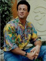 US film actor Sylvester Stallone.