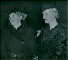 Esther Jönnsager from Norway and Klara Möller from Denmark - 1 December 1935
