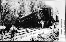 The train derailed after colliding with freight train