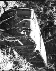 Train derailed after colliding with freight train