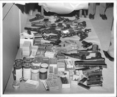 Smoke bombs, ammunition and various weapons seized from Nazi organization
