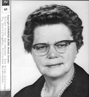 Car accident between Malmö and Lund. The picture shows the dead Mrs Hilma Andersson