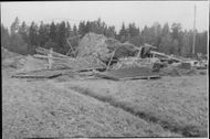 The result of a violent tornado which swept the region in Ransta Västmanland