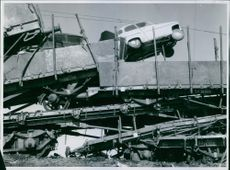 Rail wagons drove to each other during the accident in Sellnäs. And at the very top a passenger car ended up