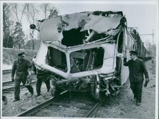Image from a rail bus accident