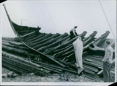 The viking ship Ormen Friskes wrecked after the loss. Found in Denmark and Germany
