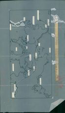 """The map shows the """"Ormen Friskes"""" road from Ystad to the most likely place of accidents"""