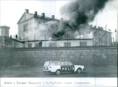 Fire in Kalmar prison. A powerful explosion destroyed the workshop at Kalmar prison