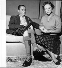 Ian Campbell, 11th Duke of Argyll with his fourth wife.