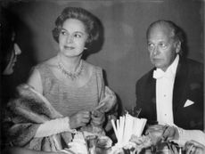 Curd Jürgens with woman.