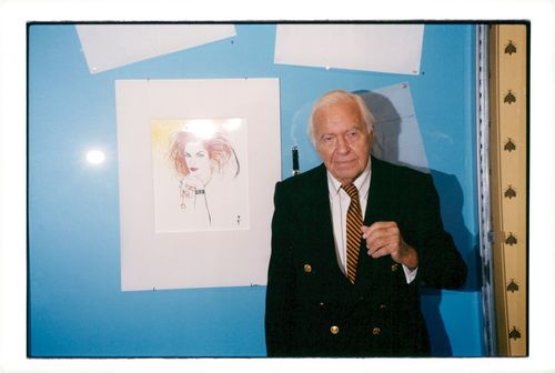 René Gruau at the launch of the Omega