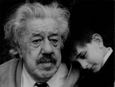 Michel Simon with a child.