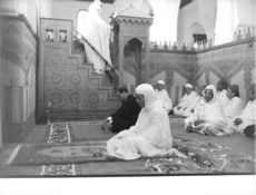 Hassan II of Morocco during a sacred ceremony.
