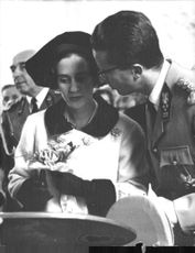 Fabiola and Baudouin at an event.